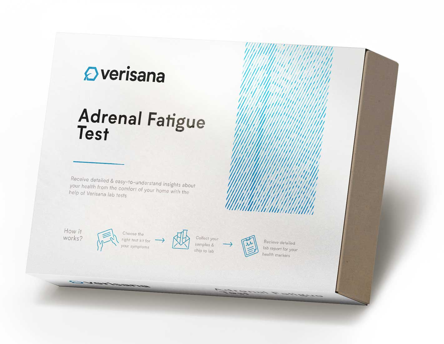 Adrenal fatigue test hormone saliva test for DHEA and diurnal cortisol