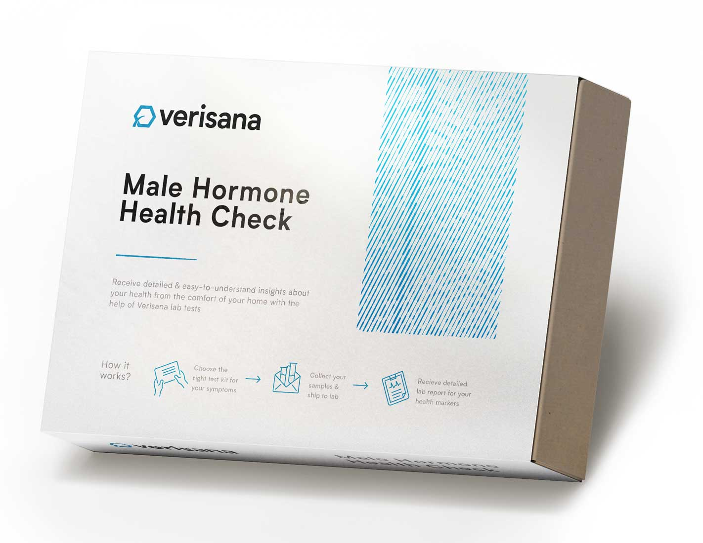 Male Hormone health check saliva test for 5 markers